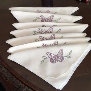 Bundle of 7 Lenox Butterfly Meadow Table Linens